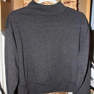 Crew neck Dark Gray Sweatshirt